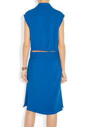 Etro Cutout-back cady dress