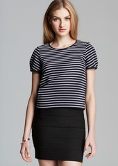 FRENCH CONNECTION Top - Fast Suki Stripe Crop