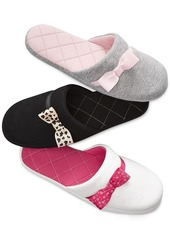 Charter Club Quilted Jersey Bow Slippers