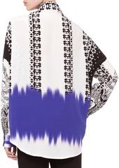 Etro Mix-Print Oversized Blouse