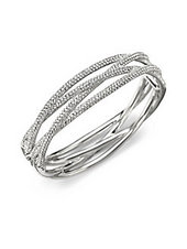 Adriana Orsini Pavé Intertwined Bangle Bracelet