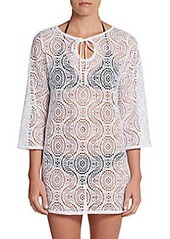 Laundry by Shelli Segal Macramé Crochet Cover-Up Tunic