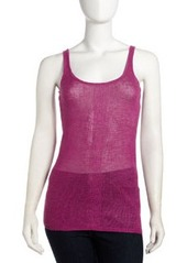 Isda & Co Sheer Linen Tank, Fuchsia