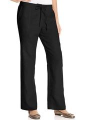 Charter Club Petite Wide-Leg Drawstring Linen Pants