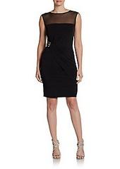 Calvin Klein Sleeveless Jewel-Waist Dress