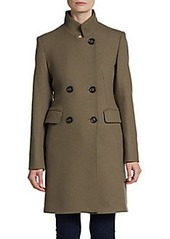 Cinzia Rocca Wool-Blend Double-Breasted Coat