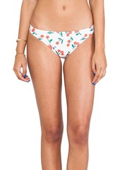 Shoshanna 15th Anniversary Cherries Print Bikini Bottom in White