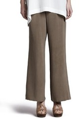 Go Silk Silk Full-Leg Pants, Women's