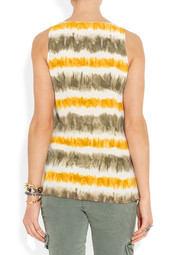 MICHAEL Michael Kors Printed washed-silk top