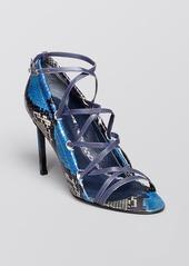 Delman Open Toe Sandals - Jojo Criss Cross High Heel