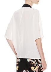 Etro Kimono Top, White/Black
