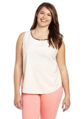Kenneth Cole New York Women's Plus-Size Tank with Embellishment