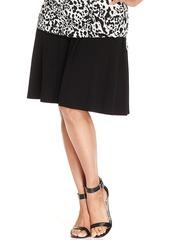 Alfani Plus Size Skater Skirt