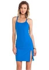 Susana Monaco Monica Cross Back Dress in Blue