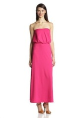 Susana Monaco Women's Light Supplex 40-Inch Blouson Tube Maxi Dress