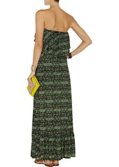 T-Bags Printed stretch-jersey maxi dress