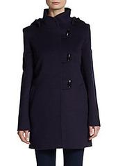 Cinzia Rocca Hooded Toggle-Close Wool Coat