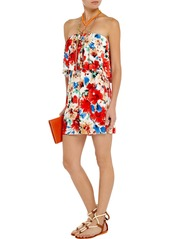 T-Bags Floral-print stretch-satin jersey mini dress