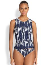 Shoshanna East Lake Ikat Tank Top