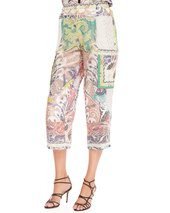 Etro Fern Paisley Patchwork Tank Top, White/Multi