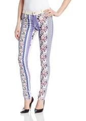 James Jeans Women's J Twiggy Flip Side Double Sided Front Zip Skinny Jean
