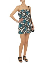 T-Bags Printed stretch-satin jersey mini dress
