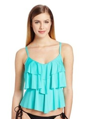 Kenneth Cole Reaction Women's V-Shaped Tiered Tankini