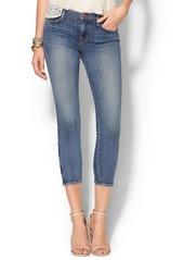J Brand Mid Rise Zip Capri Jean