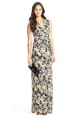 New Yahzi Long Maxi Silk Jersey Wrap Dress