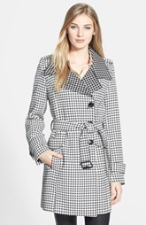 Kenneth Cole New York Dot Print Asymmetric Trench Coat