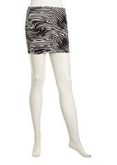 T Bags Graphic-Print Ruched Miniskirt