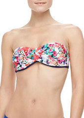 Nanette Lepore Fleur De La Mar Twisted Bandeau Bikini Top