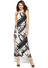 Alfani Graphic-Print Halter Maxi Dress