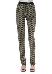 Nanette Lepore Suhtai Tapered Leg Pants, Sand/Multicolor
