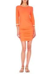Shirred-Hem Coverup Dress   Shirred-Hem Coverup Dress