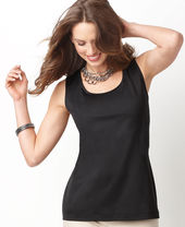 Charter Club Top, Sleeveless Polished Layering Shell