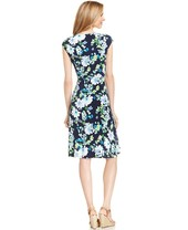 Charter Club Petite Cap-Sleeve Floral-Print A-Line Dress