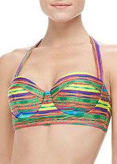 Nanette Lepore Sinaloa Striped Underwire Bikini Top