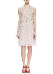 Nanette Lepore Subtle Hint Striped Silk Dress