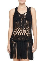 Macrame Sleeveless Dress Coverup   Macrame Sleeveless Dress Coverup