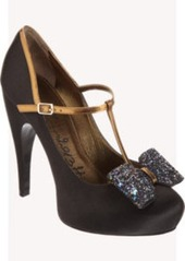 Lanvin Satin T-Strap Bow Pump