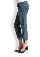 Hudson Jude Slouchy Skinny Cropped Jeans