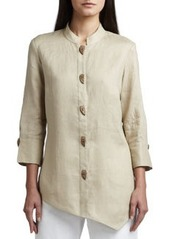 Go Silk Asymmetric Linen Blouse, Women's