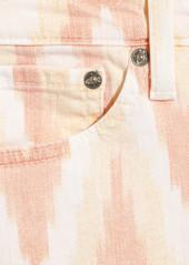AG Jeans Stilt printed mid-rise skinny jeans