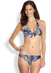 Etro Two-Piece Printed Halter Bikini