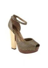 Lanvin Metallic Ankle-Strap Platform Sandals