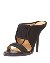 L.A.M.B. Sharon Nubuck Double-Band Slide, Black