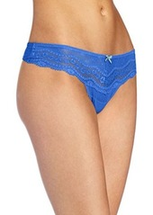 Betsey Johnson Women's Eyelet Lace Lo-Rise Wide Side Thong Panty