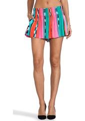 Ella Moss Surfer Stripe Shorts in Pink