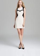 Nanette Lepore Leather Ponte Dress - Rio Grande